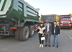 Nigeria Client Visited us for HOWO 70T Mining Tipper