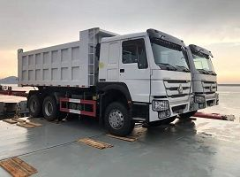 To Nigeria-2 Units Howo 30 Ton Dump Truck