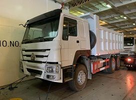 To Tanzania-3 Units Howo 6x4 30 Ton Front Lifting Tipper