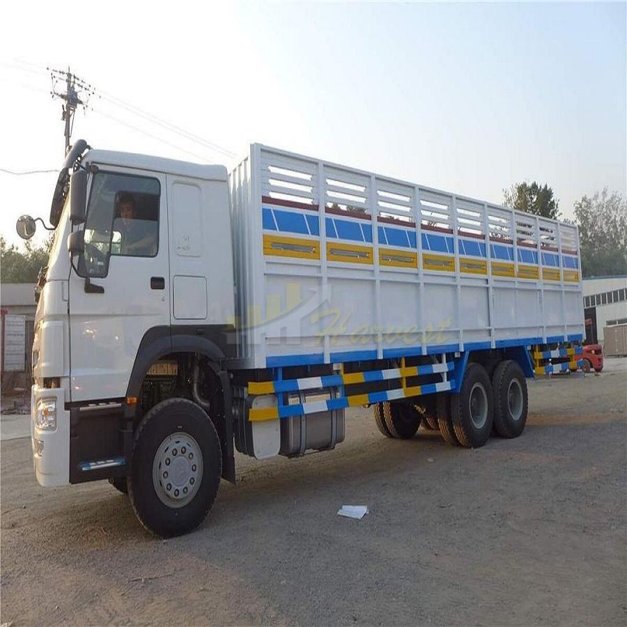 White Howo 6x4 371hp Cargo Truck with 12.00R24 Tires