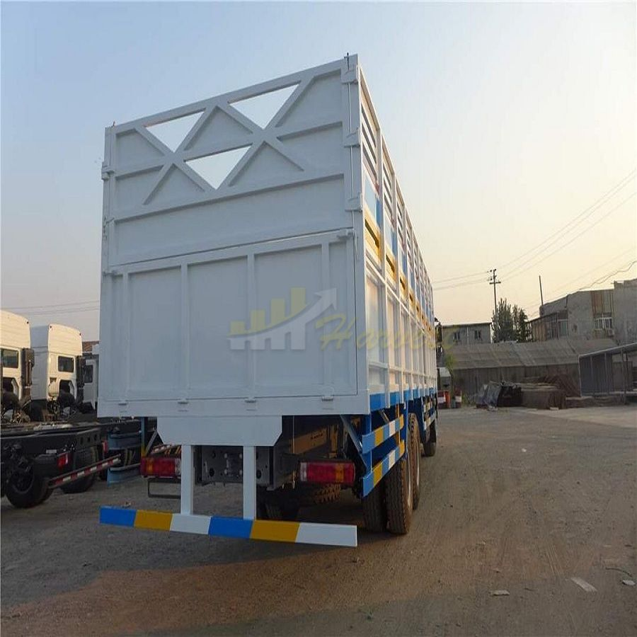 White Howo 6x4 371hp Cargo Truck with 12.00R24 Tires in Somalia.