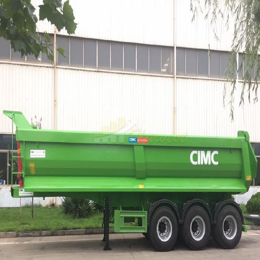 Cimc Manufacture 3 Axles Tipper Trailer / Tipper Truck Semi Trailer