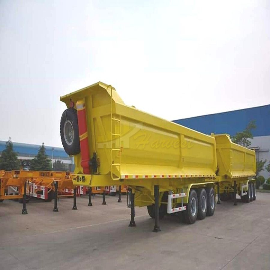 Cimc Manufacture 3 Axles Tipper Trailer / Tipper Truck Semi Trailer