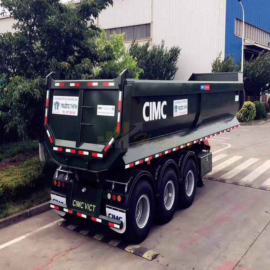 China Factory 60t Tipper Trailer Dump Trailer