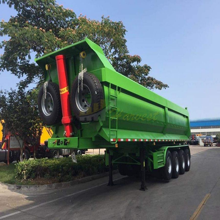 4 Axles 50 Ton Dump Trailer from China Factory