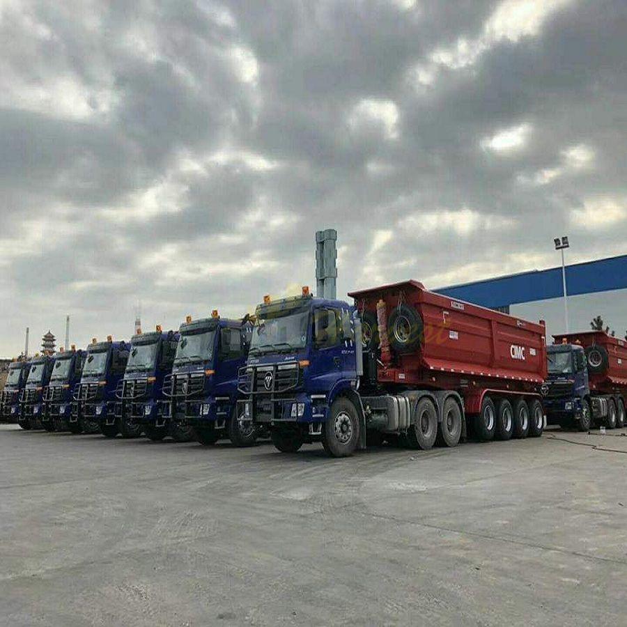 Rear Dump Trailer End Dumping Dumper Semi Truck Trailer