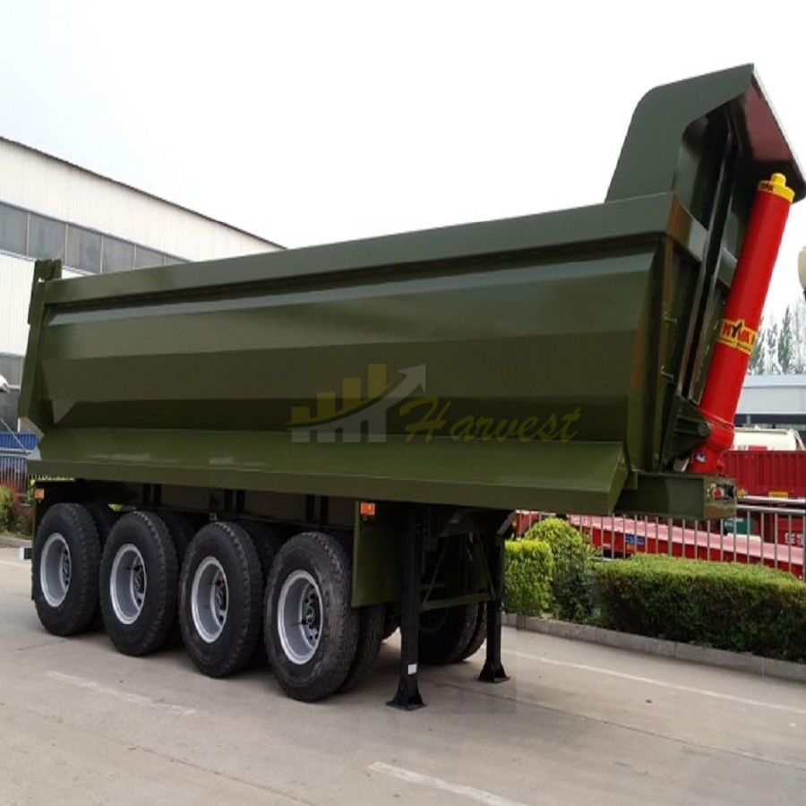 4 Axles Dump Tipper Truck Semi Trailers for Sale