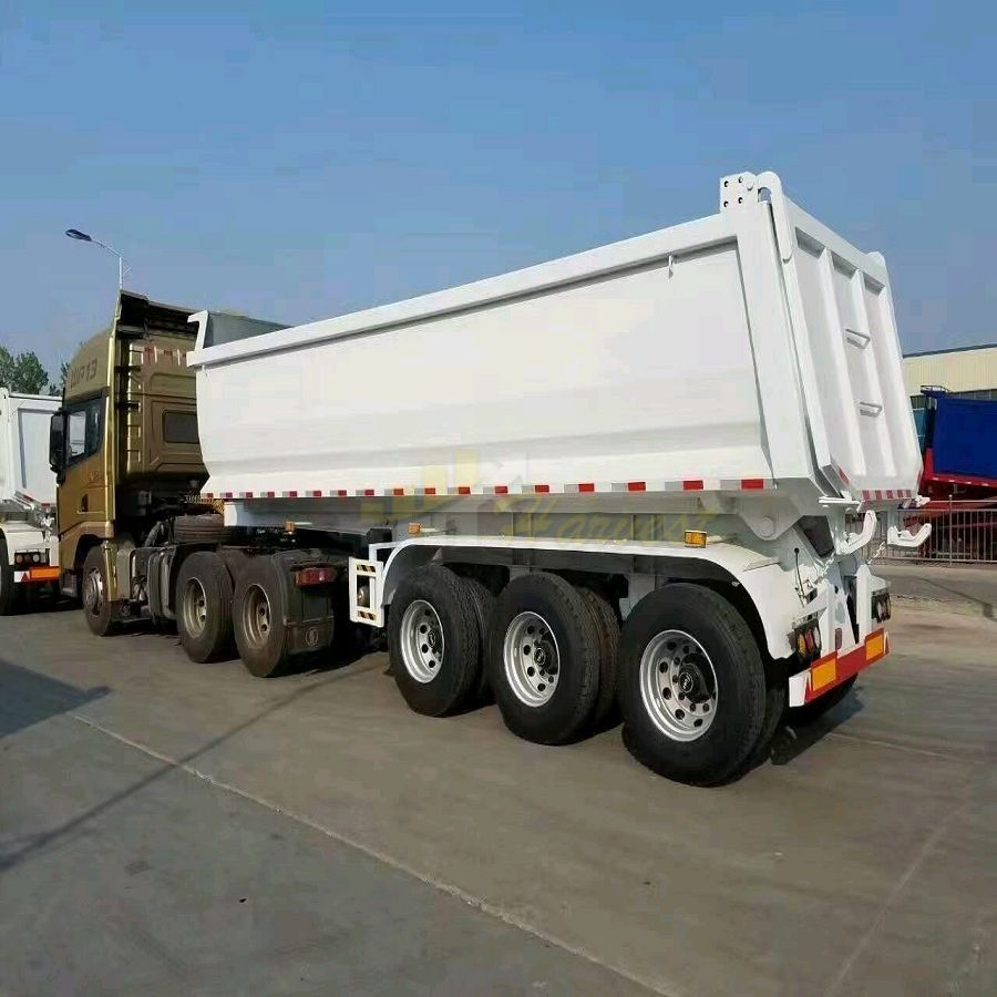 3 Axle Tipper Dump Semi Trailer 30 Cubic with U Shape Dumper Trailer