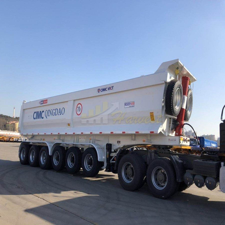 6 Axles 70 Ton U Shape Dump Trailer for Africa