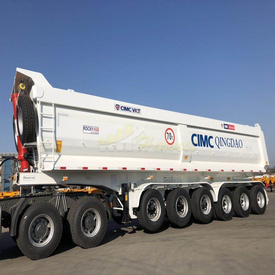 70 ton 40cbm Dump Trailer China Good Quality