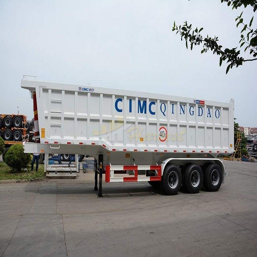 Export Three axles 25cbm Tipper Trailer