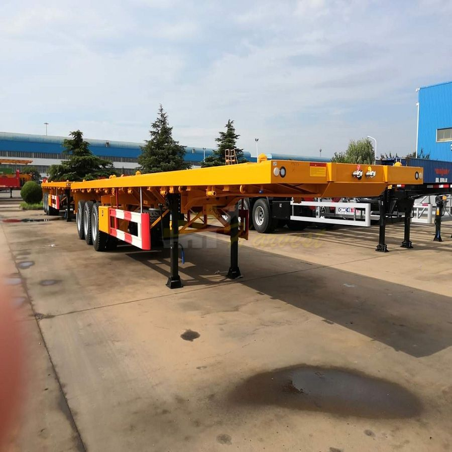 3 Axles 40ft Container Trailer Flatbed Trailer