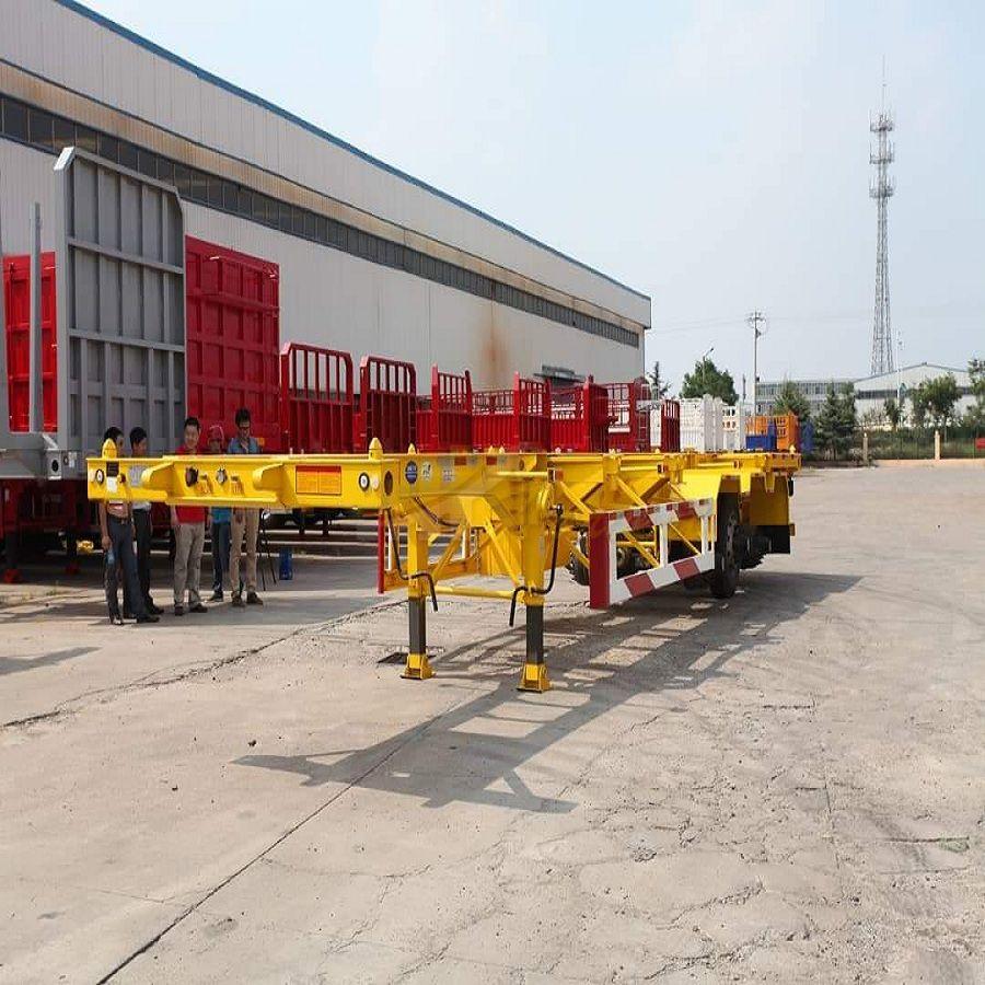 3 Axles 20ft 40ft Skeleton Container Semi Trailer