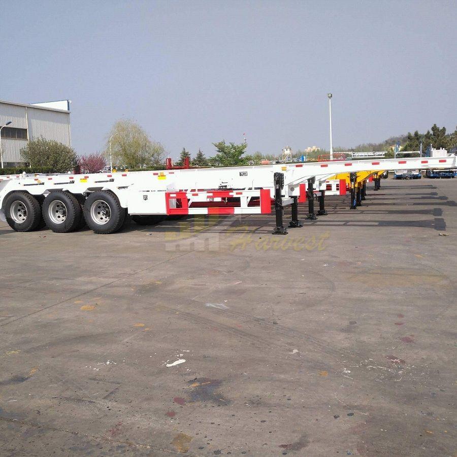 3 Axles 40FT Skeleton Semi Trailer for  Container Transportation