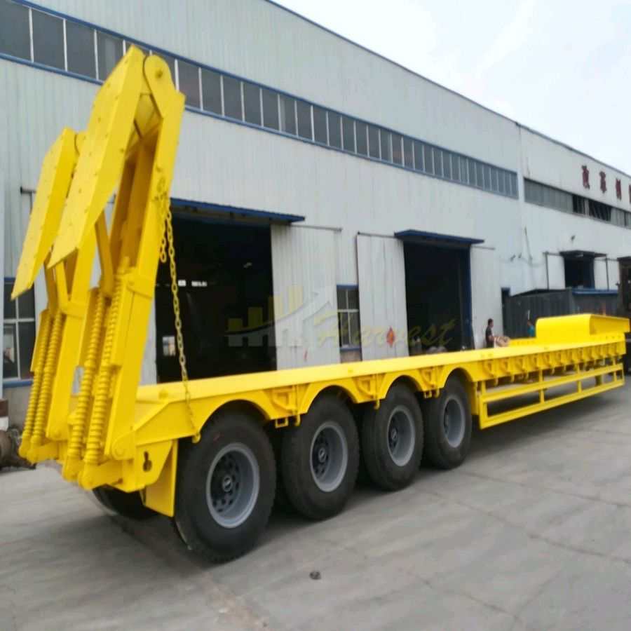 4 Axles 60 Ton Lowbed Semi Trailer