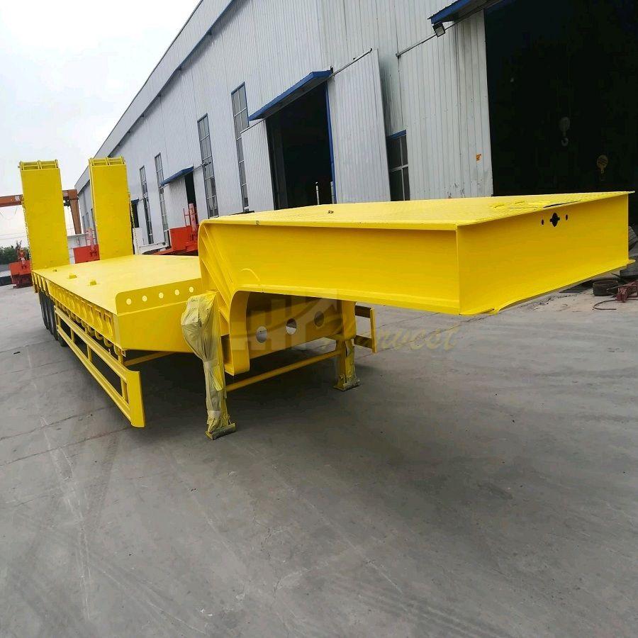 4 Axles 60 Ton Lowbed Semi Trailer