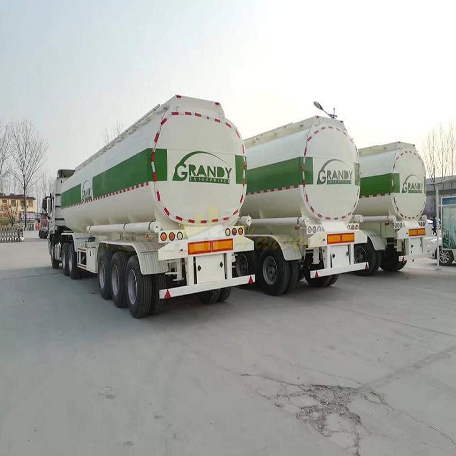 China 3 Axle 42m3 Fuel Oil Tank Tanker Semi Trailer