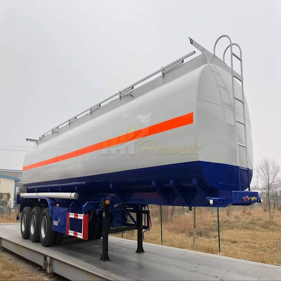 3 Axles 42000L Fuel Tanker Truck Trailer Oil Tanker