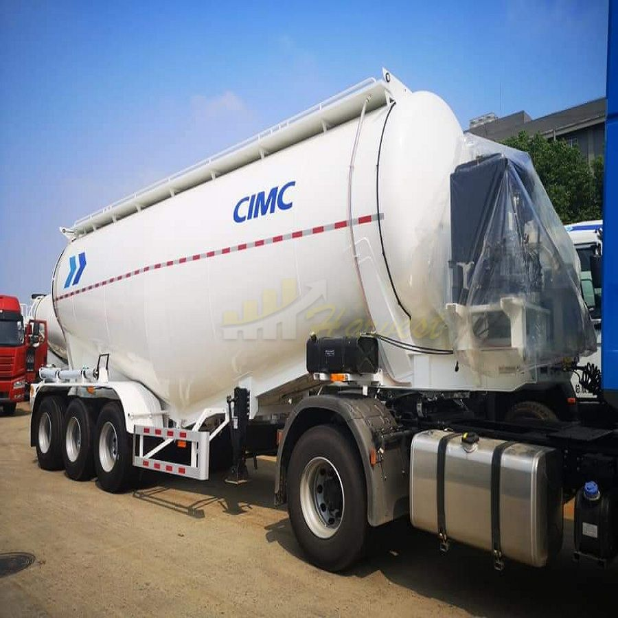 New Design 3 axles 40 ton Diesel Bulk Cement Trailer