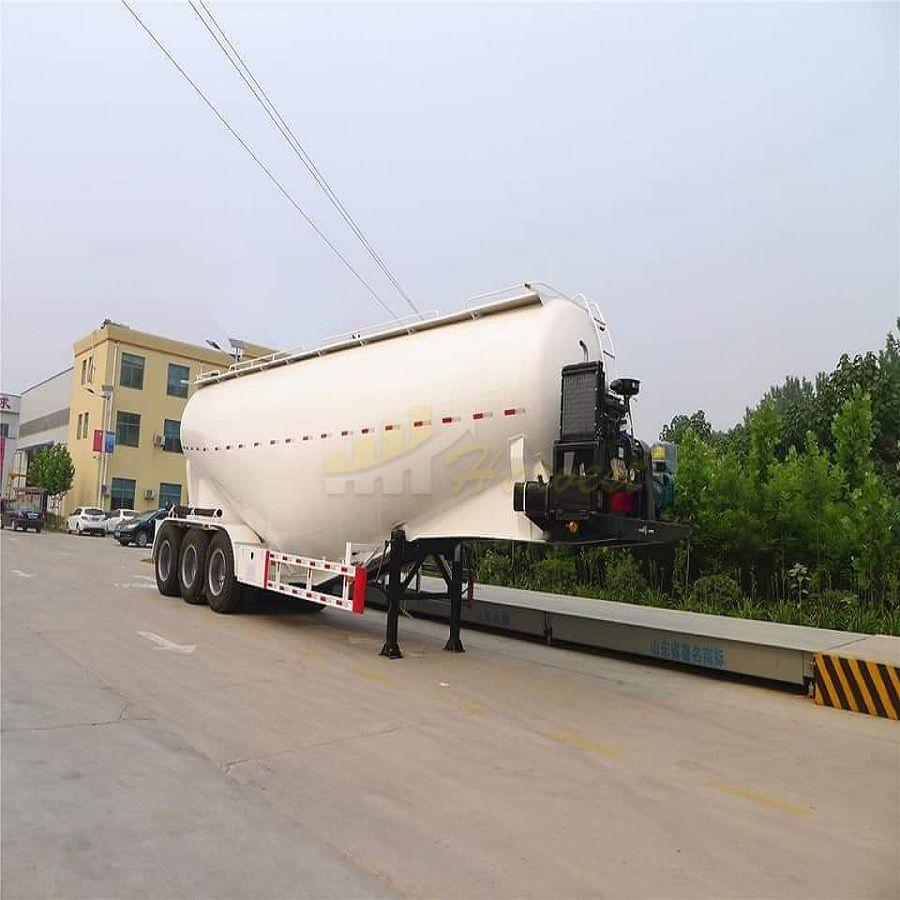 3 Axle 50m3 Bulk Cement Tank Tanker Semi Trailer