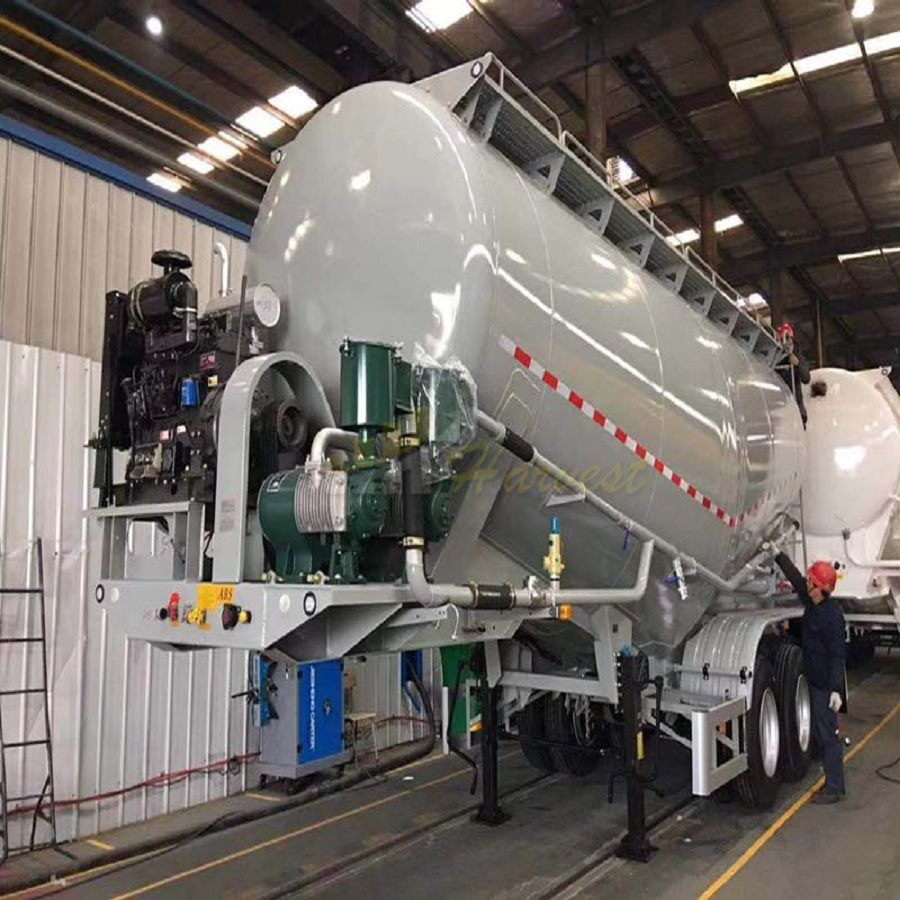 35cbm Powder Transporting Cement Bulk Semi Trailer