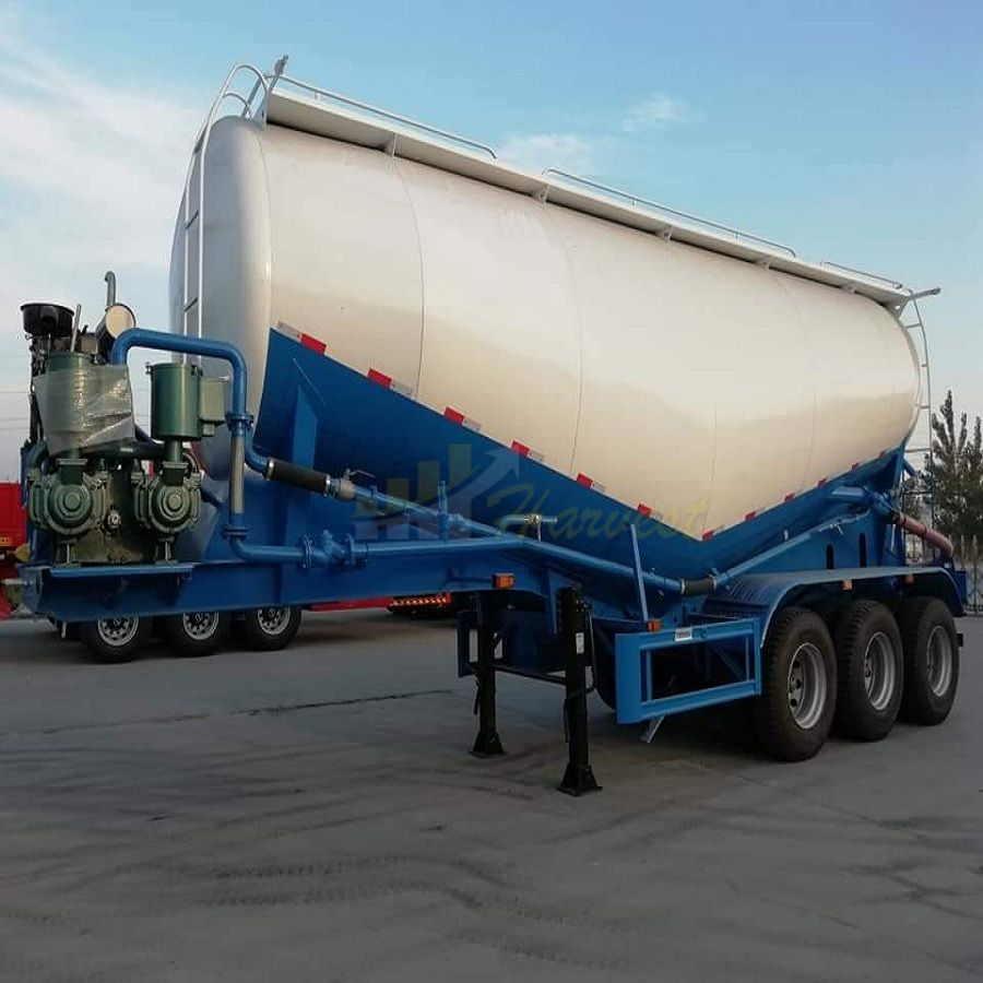 China Manufacture 3 Axles Cement Silo Bulker Tanker