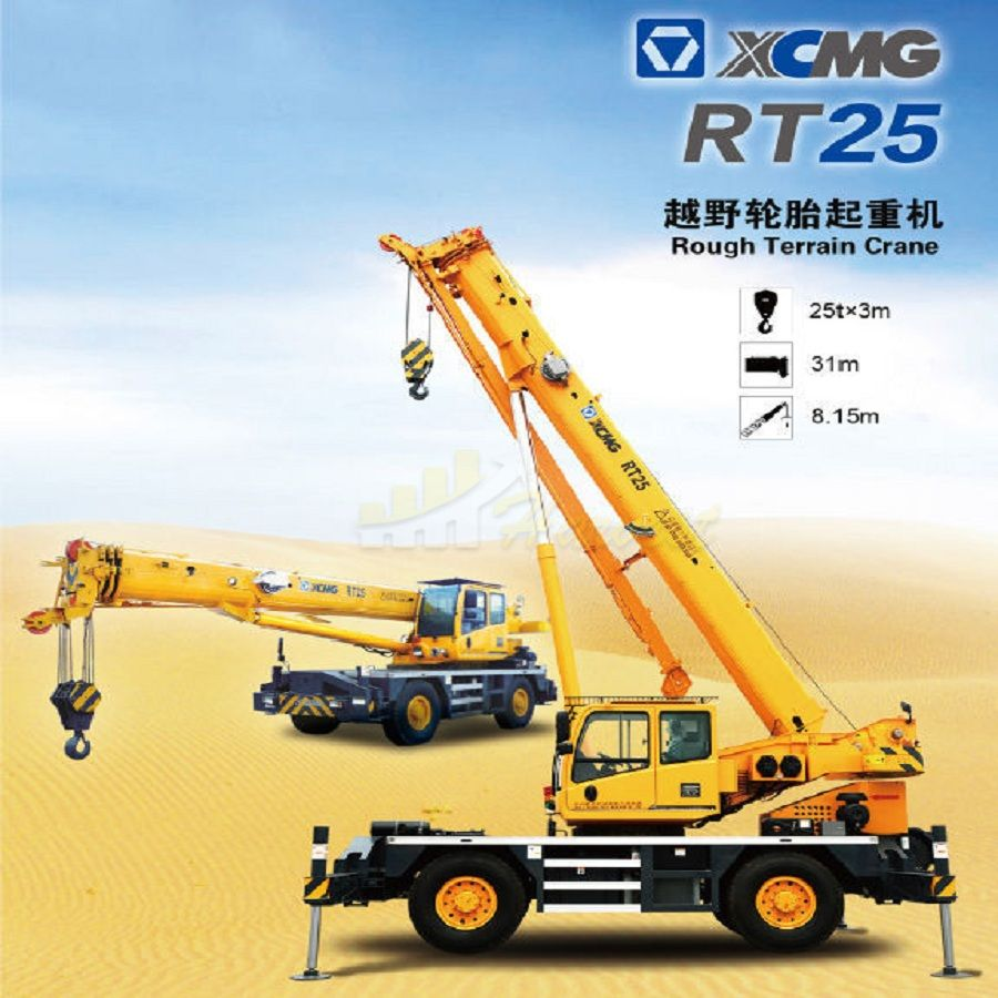 25 Ton Rough Terrain Crane RT25 from China Factory