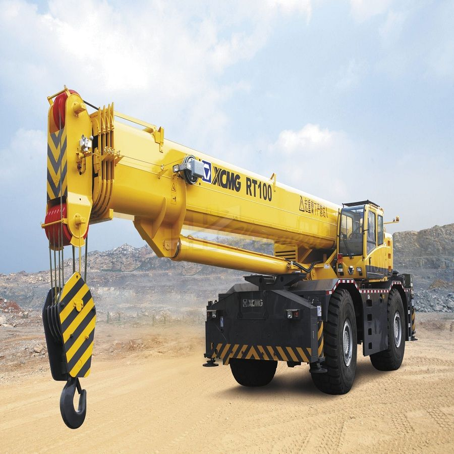 Hot Selling 100 Ton RT100  Rough Mobile Terrain Crane with Best Quality