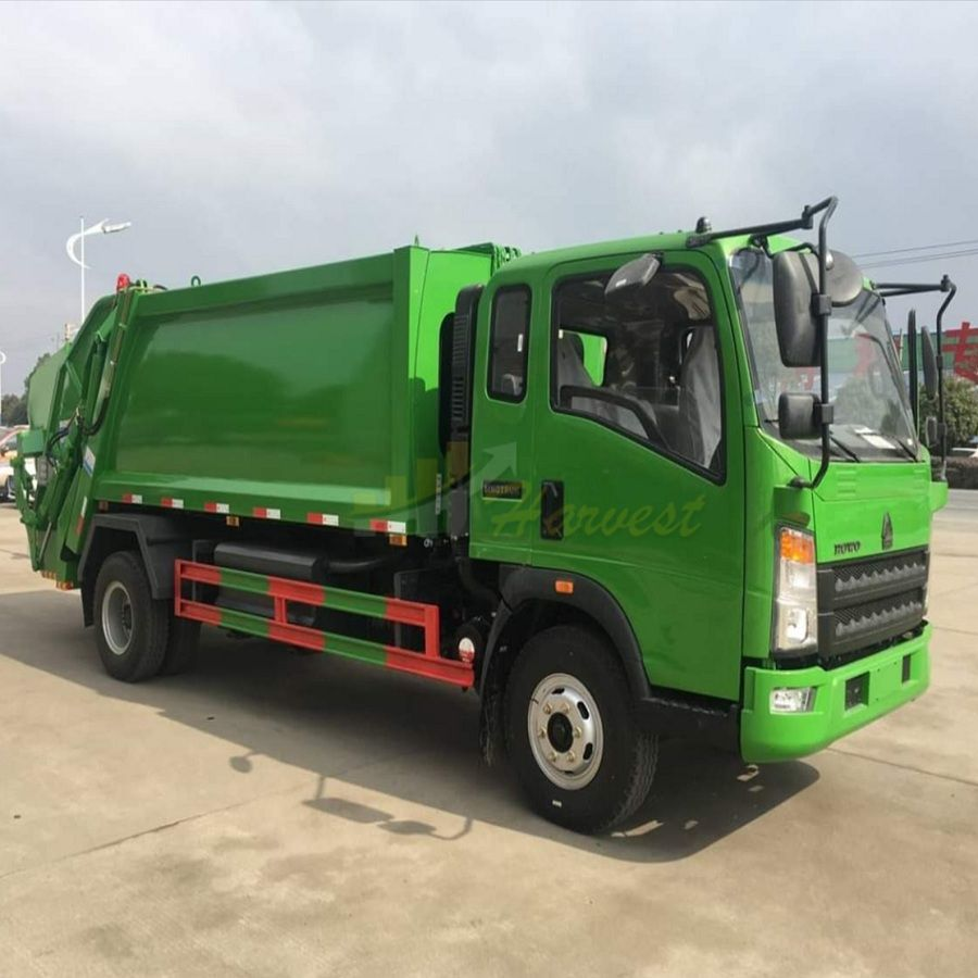 Sinotruk HOWO 4X2 5m3 Garbage Compactor Truck 3 Tons Garbage Truck