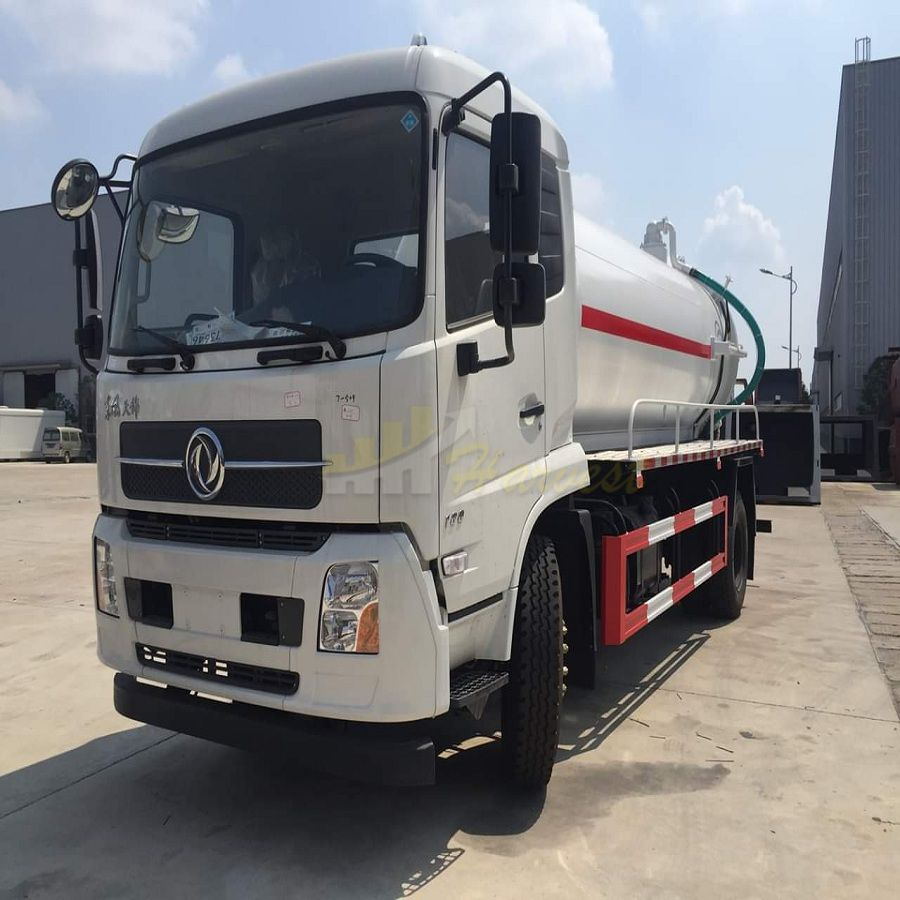 Dongfeng 12m3 Sewage Suction Truck Sewer Cleaning Truck