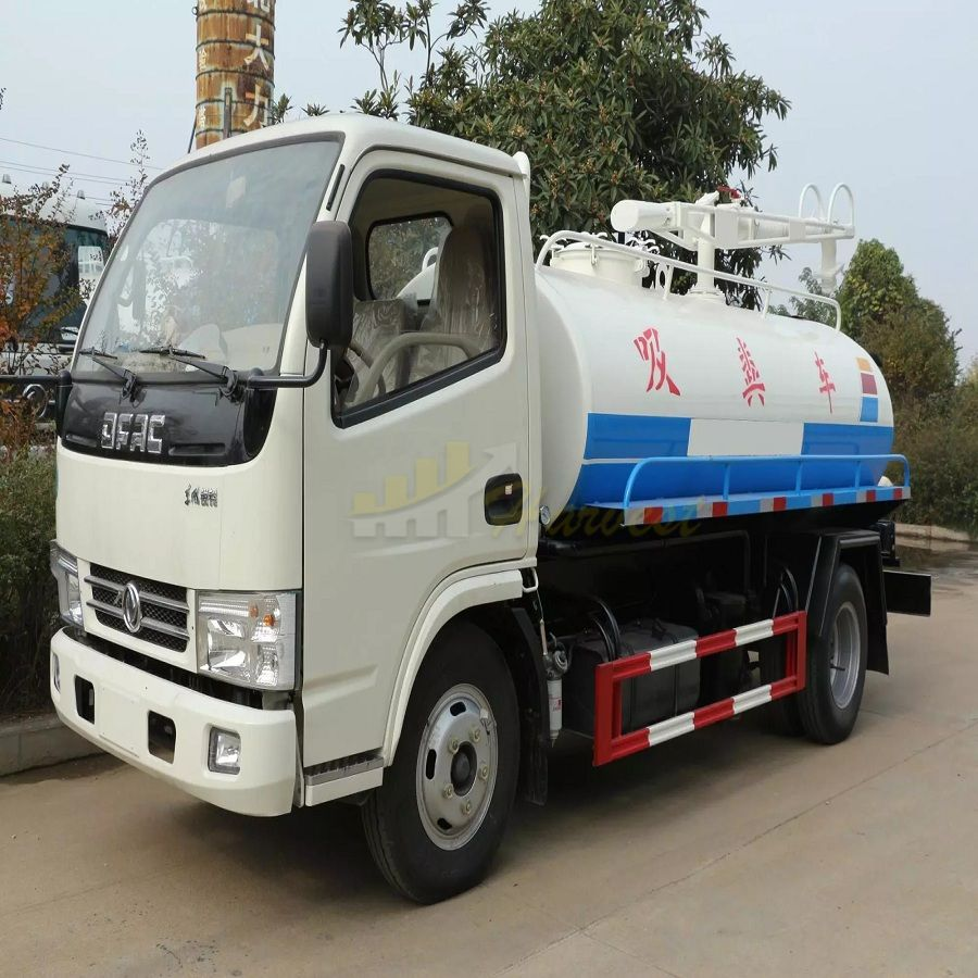 Dongfeng 4x2 5m3 Fecal Sucking Tanker Truck