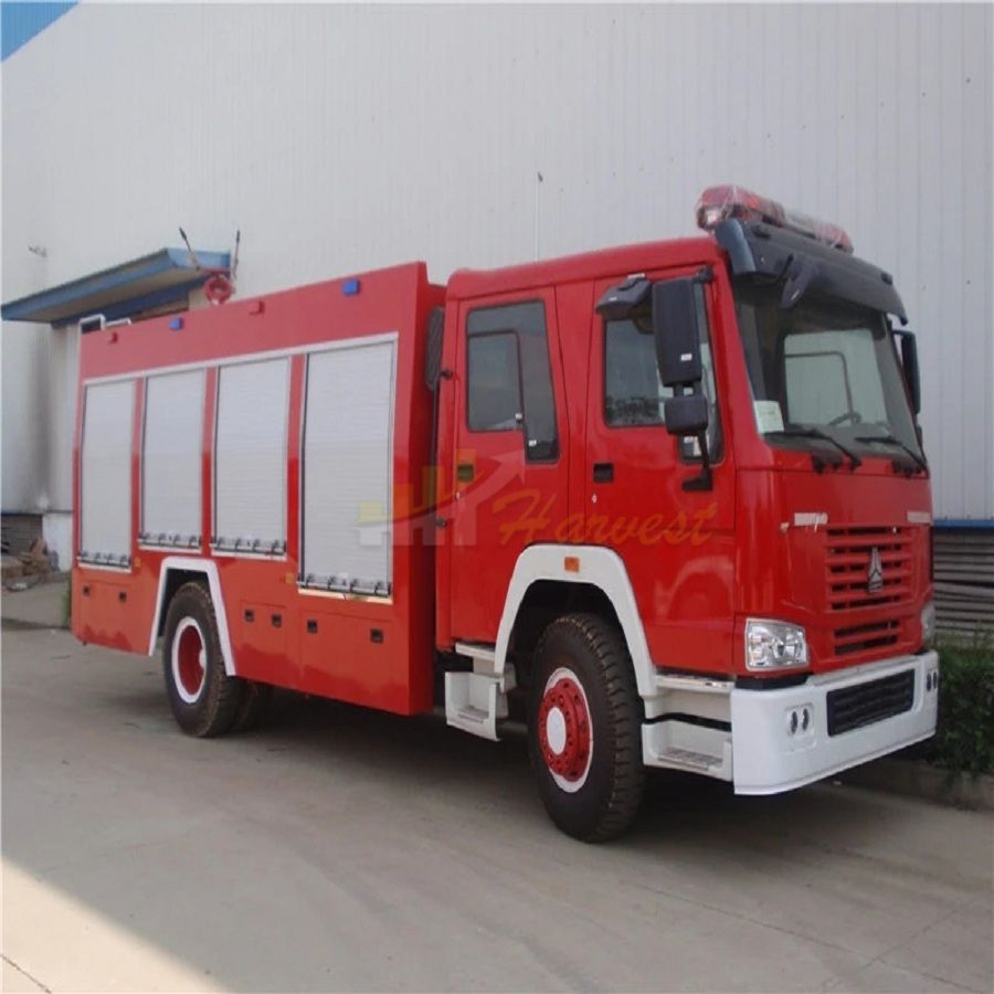 HOWO 266hp Red Fire Truck Fire Fighting Truck