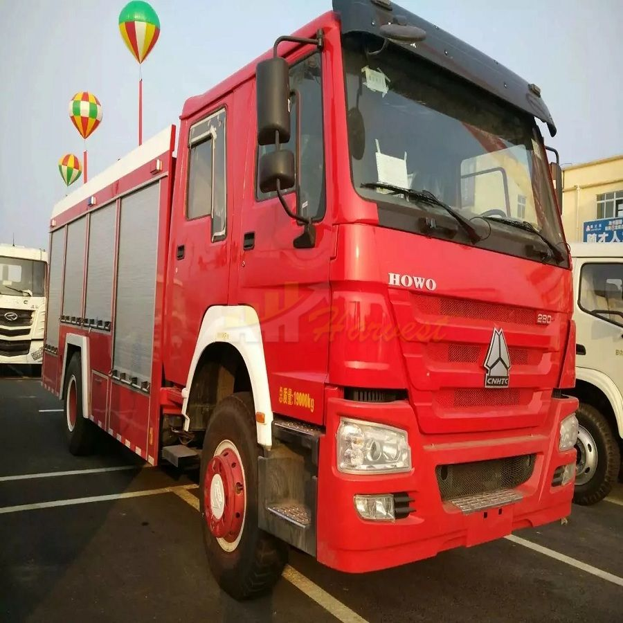 HOWO 280hp Powerful Water and Foam Fire Truck