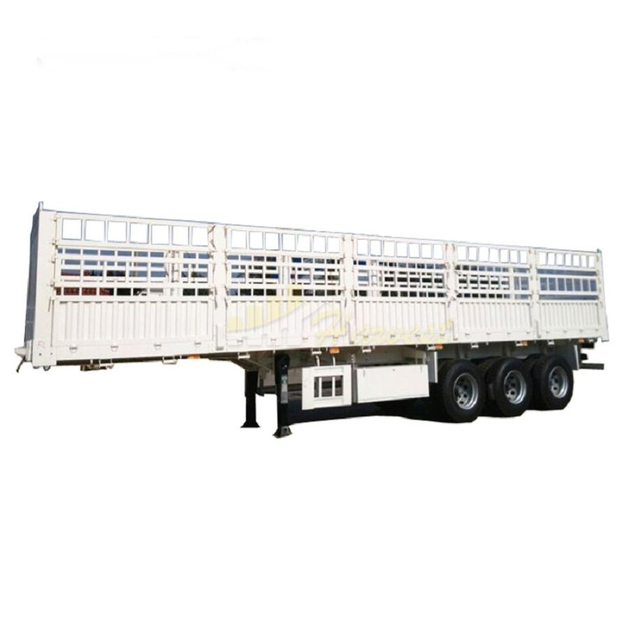 3 Axles 40 Ton Fence Cargo Truck