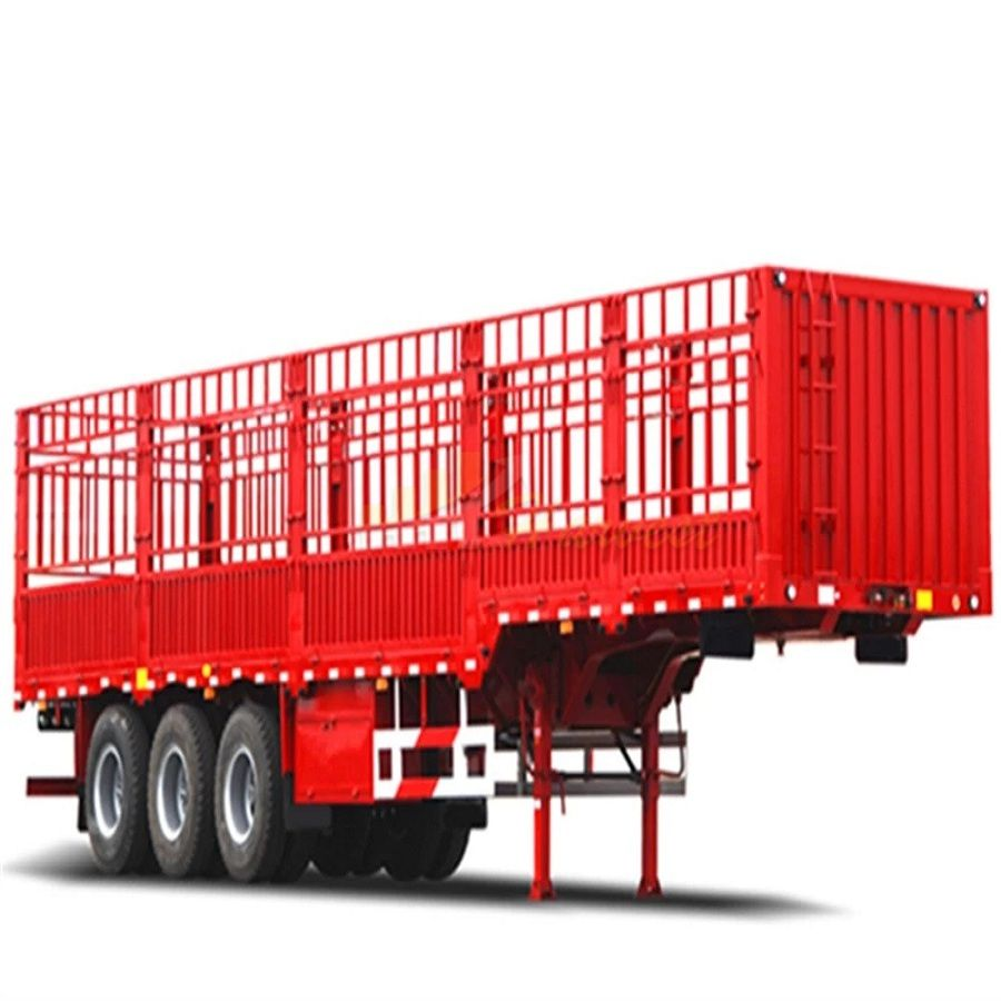40 Feet 40 Ton 3 Axles Fence Cargo Trailer