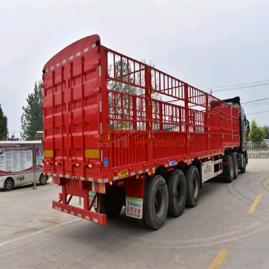 40 Feet 40 Ton 3 Axles Fence Cargo Trailer