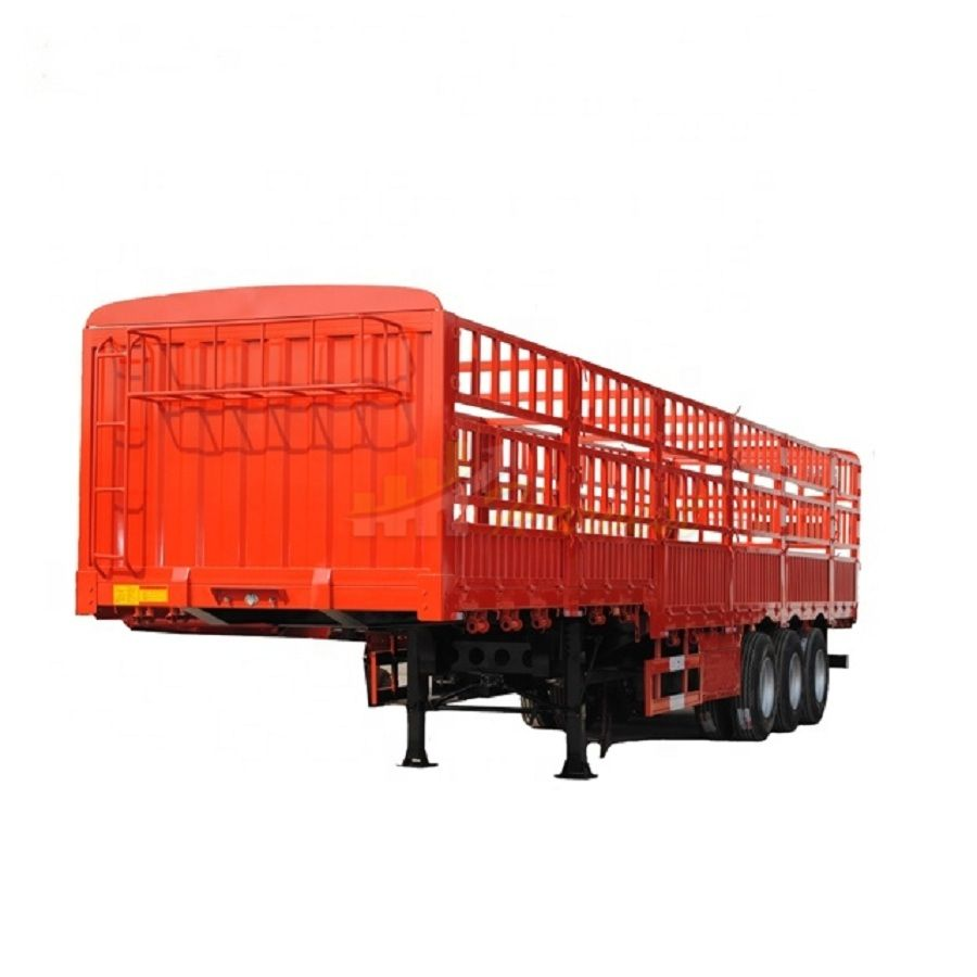 3 Axle Fence Semi-trailer 13m Cargo Side Wall Poultry Transport Trailer