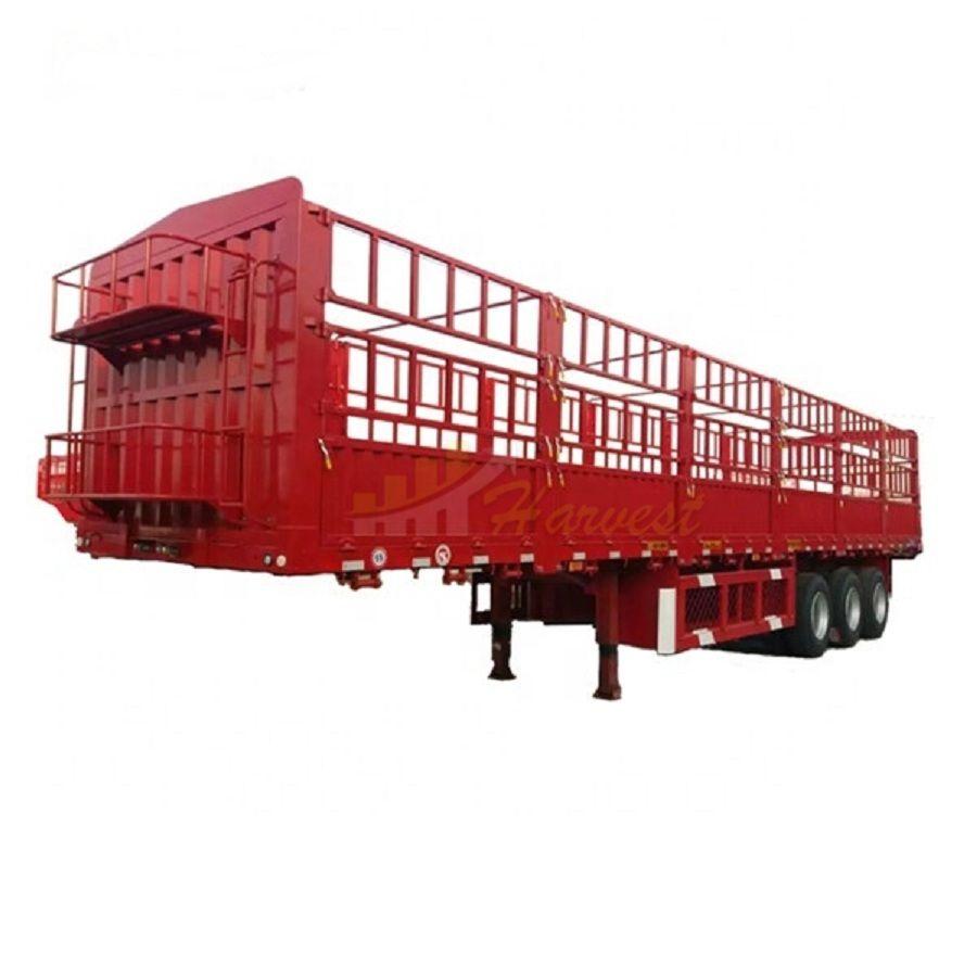 3 Axle Fence Semi-trailer 13m Cargo Side Wall Poultry Transport Trailer