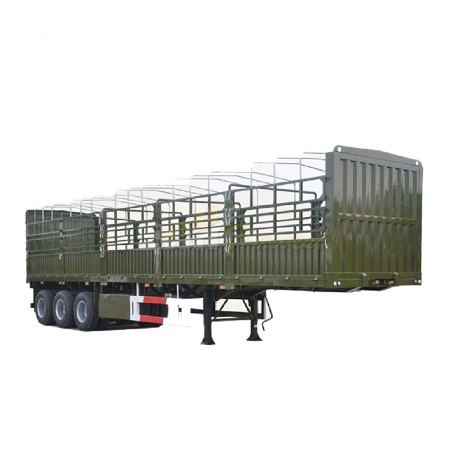3 Axle Heavy Duty Fence Cargo Trailer Side Wall Semi-trailer