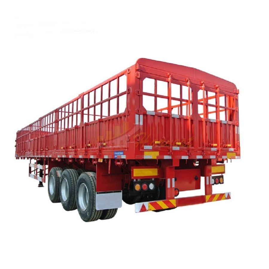 3 Axle Heavy Duty Fence Cargo Trailer Side Wall Semi-trailer