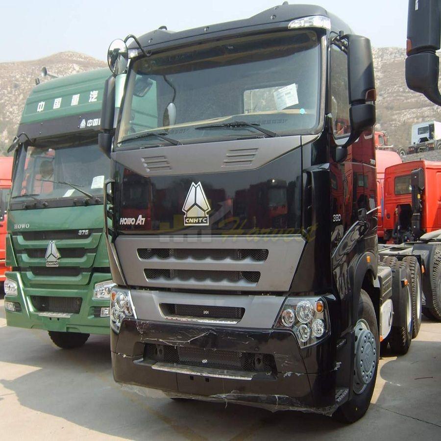 Sinotruk A7 10 Wheelers 380hp Tractor Head Euro4 Emission