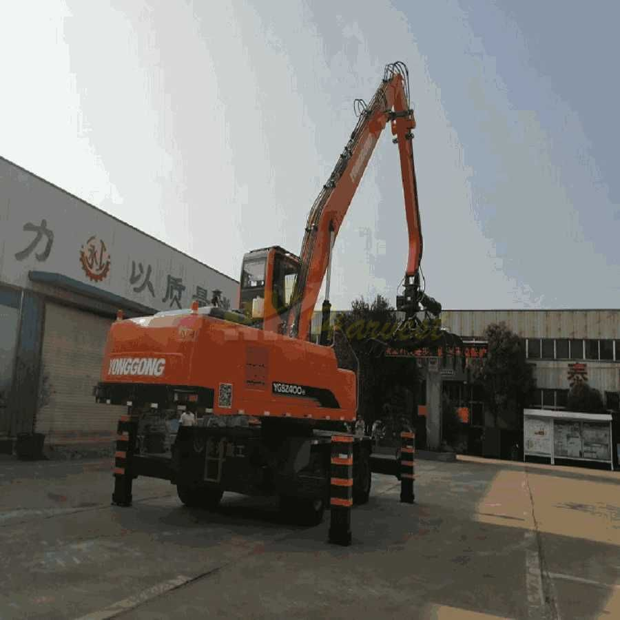 40 Ton Hydraulic Wheel Excavator with Grapple/Log Grab