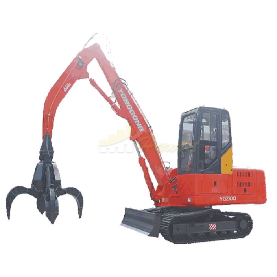 Mini 10 Ton Scrap Steel Grabber Excavator