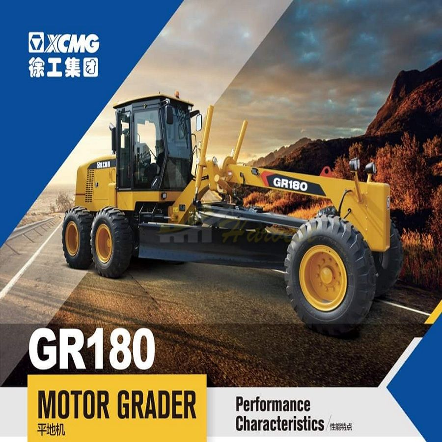 XCMG Motor Grader Gr180 with Ripper and Blade for Sale