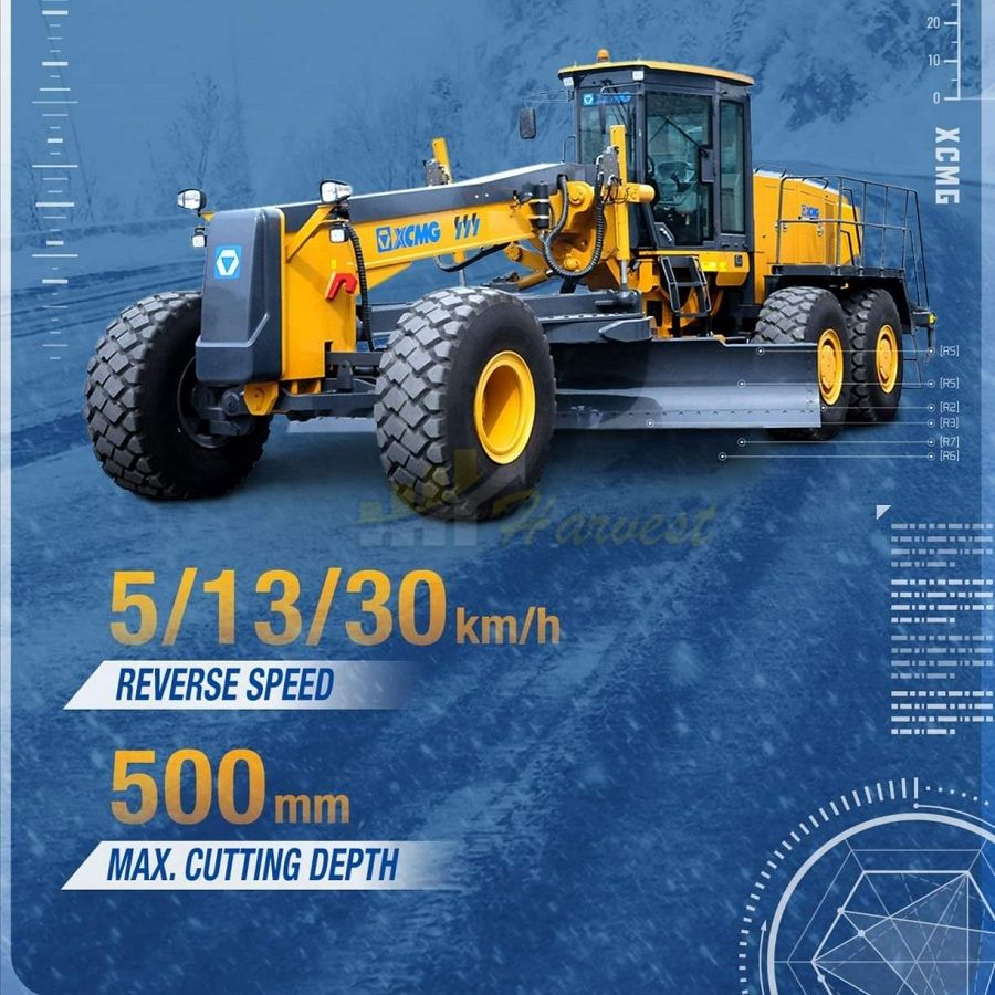 China Big Mining 350HP Motor Grader XCMG Gr3505