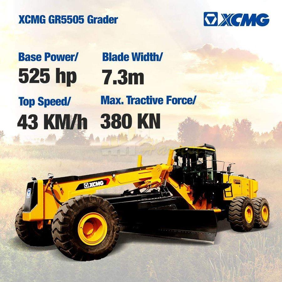 XCMG Overlarge Mining Motor Grader GR5505 for Sale