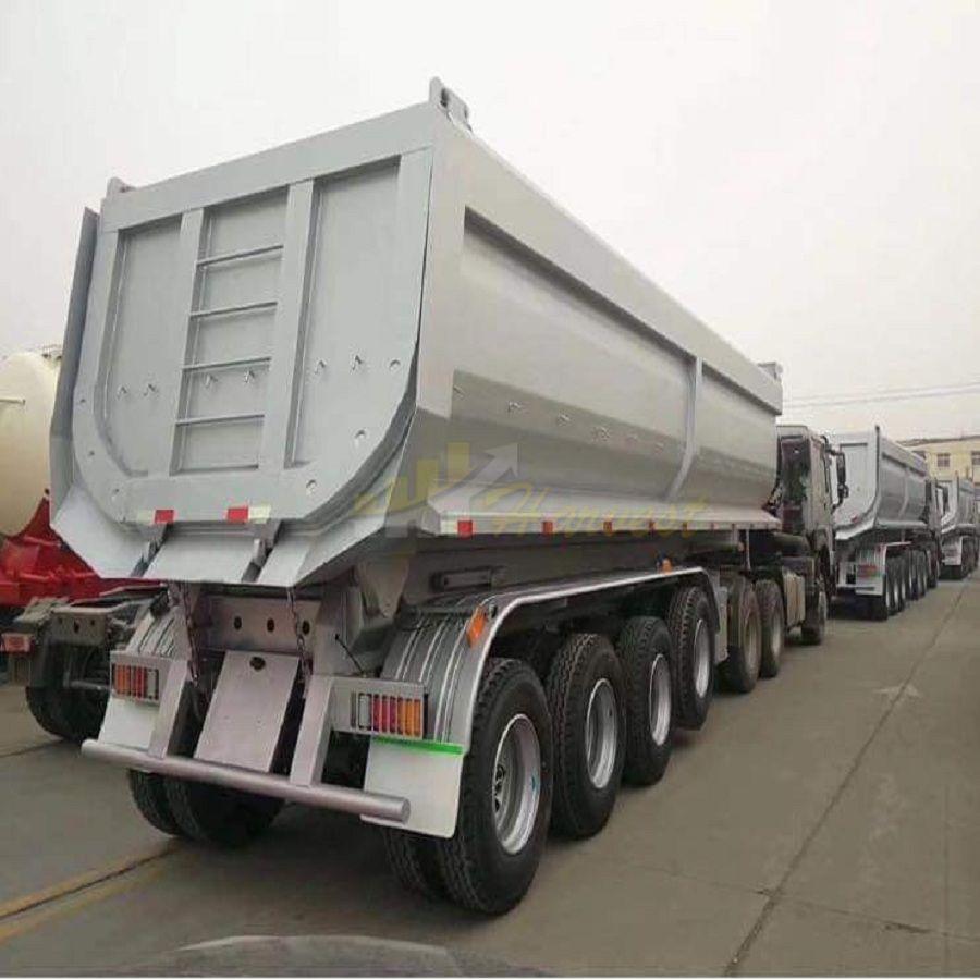 Aggregate 45cbm 80 Tons 4 Axles U-Shape Dump Truck Trailers /Tipper Semi Trailer