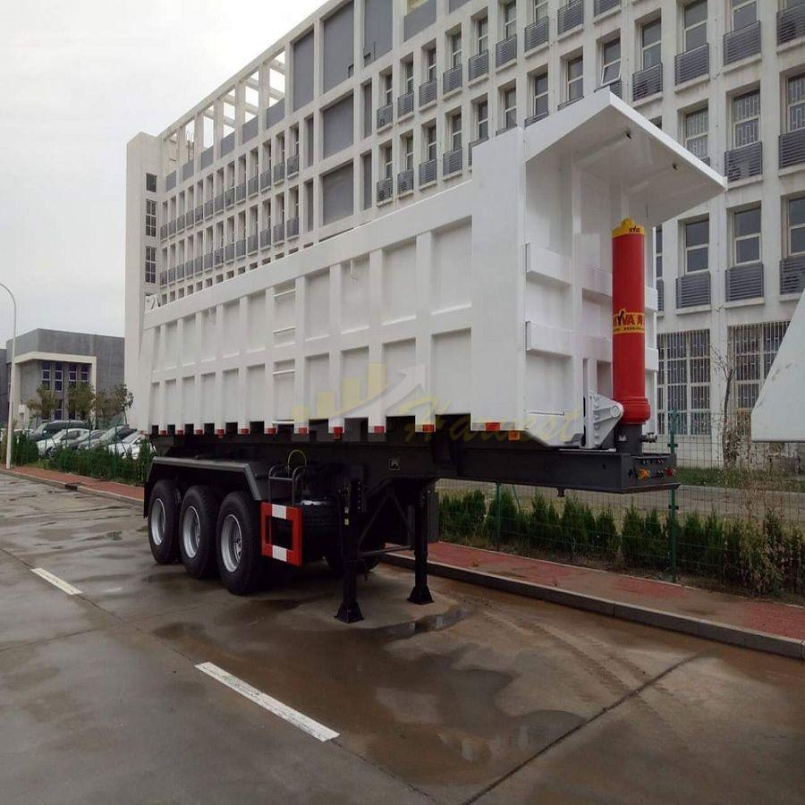3 Axle Dump Semi Trailer for Stone Sand Transport