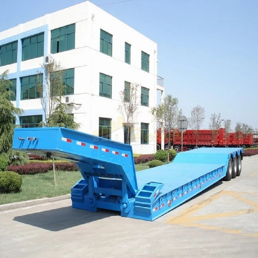 Hydraulic Detachable 3 Axles 60 Ton Gooseneck Lowbed Trailer