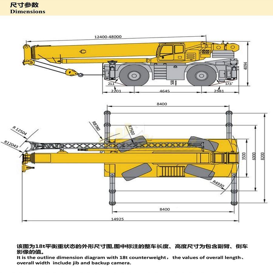 120 Ton RT120E Rough Terrain Crane for Sale